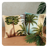 Palm Tree Decorative Accent Pillow Set