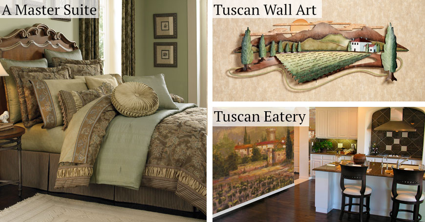 Tuscan italian style home decorating and tuscan decorating for Italian decorations for home