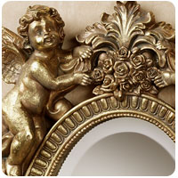 Heavenly Gardener Cherub Wall Mirror