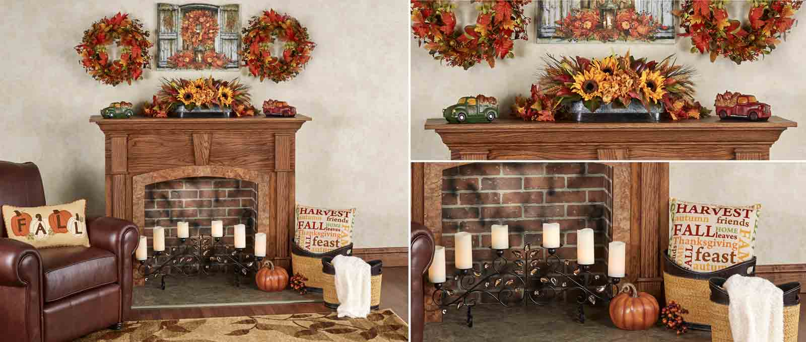Get The Look Autumn Fireplace Decorating Touch Of Class