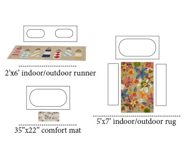 Bathroom Area Rug Layouts
