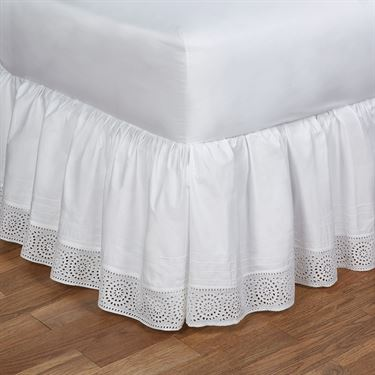 White Cotton Bedskirt