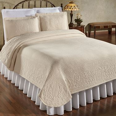 William and Mary II Woven Matelasse Coverlet from Colonial Williamsburg