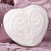 Intrigue Chenille Heart Pillow Heart