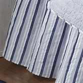 Nantucket Dream Gathered Bedskirt Blue