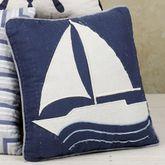 Nantucket Dream Sailboat 14 Square Pillow Blue 14 Square