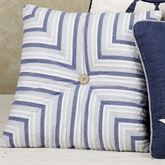 Nantucket Tailored Stripes 14 Square Pillow Blue 14 Square
