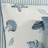 Treasures By Sea Quilted Sham Dusk Blue Standard