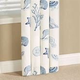 Treasures By The Sea Tailored Curtain Panel Dusk Blue 50 x 84