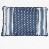 Santorini Tailored Rectangle Pillow Indigo