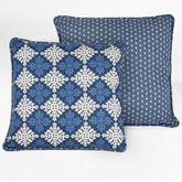 Santorini Tailored Square Pillow Indigo 18 Square