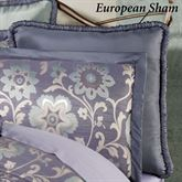 Milana Floral Piped European Sham Slate