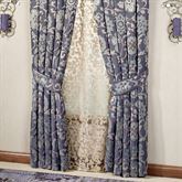 Milana Floral Tailored Curtain Pair Slate 84 x 84
