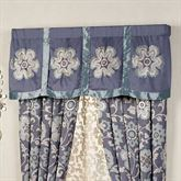 Milana Floral Embroidered Valance Slate 60 x 20