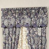 Milana Layered Valance Slate 80 x 16