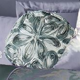 Milana Floral Tailored Round Pillow Slate Round