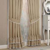 Antiquity Ruffled Curtain Pair Latte 84 x 84