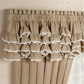 Antiquity Scalloped Valance Latte 72 x 20
