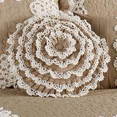 Antiquity Ruffled Round Pillow Latte Round
