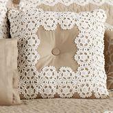 Antiquity Tufted Square Pillow Latte 18 Square