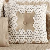Antiquity Tufted Square Pillow Latte 18 Square