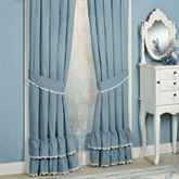 Reminisce Ruffled Curtain Pair Sterling Blue 84 x 84