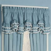 Reminisce Scalloped Valance Sterling Blue 72 x 20