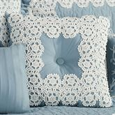 Reminisce Tufted Square Pillow Sterling Blue 18 Square