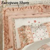 Melody Ruffled European Sham Coral