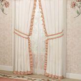 Melody Ruffled Curtain Pair Coral