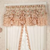 Melody Ruffled Scalloped Valance Coral 72 x 20