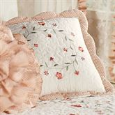Melody Scalloped Square Pillow Coral 16 Square