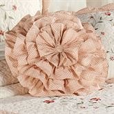 Melody Ruffled Round Pillow Coral Round