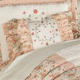 Melody Ruffled Rectangle Pillow Coral