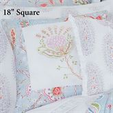Savannah Garden Embroidered Floral Pillow Multi Cool 18 Square