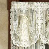 Victorian Bustle Lace Fan Valance 30 x 18