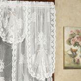 Victorian Bustle Lace Long Fan Valance 30 x 36