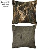 Browning(R) Whitetails Tailored Square Pillow Multi Warm 18 Square