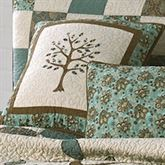 Vintage Tree of Life Quilted Pillow Cream 15 Square