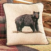 Bears Paw Embroidered Pillow Multi Warm 15 Square