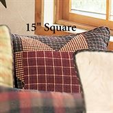 Bears Paw Pieced Pillow Multi Warm 15 Square
