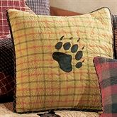 Bears Paw Quilted Pillow Multi Warm 15 Square