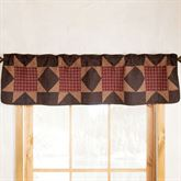 Bears Paw Quilted Valance Multi Warm 60 x 15