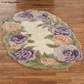 Mystic Garden Oval Rug Lavender