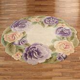 Mystic Garden Round Rug Lavender