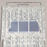 Butterfly Flicker Lace Swag Valance Pair 52 x 36