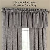 Elnora Scalloped Valance 52 x 18