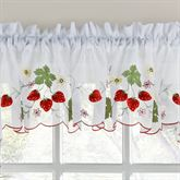 Wild Strawberry Semi Sheer Tailored Valance 58 x 12