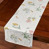 Butterfly Meadow Table Runner White 14 x 70