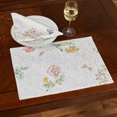 Butterfly Meadow Placemats White Set of Four
